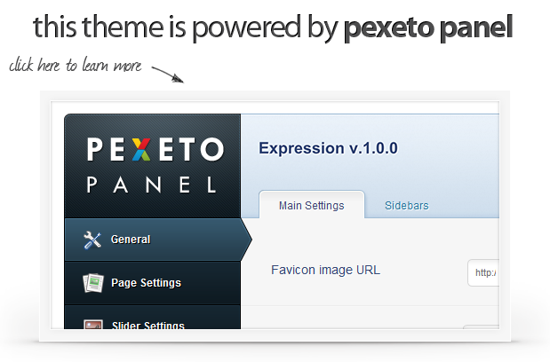 powered by pexetopanel ex - Expression Photography Responsive WordPress Theme